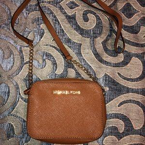 Michael Kors light brown crossbody bag
